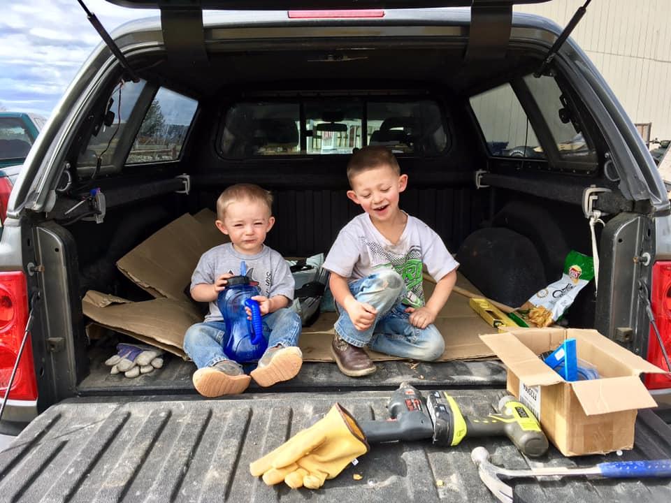 Kids hard at work