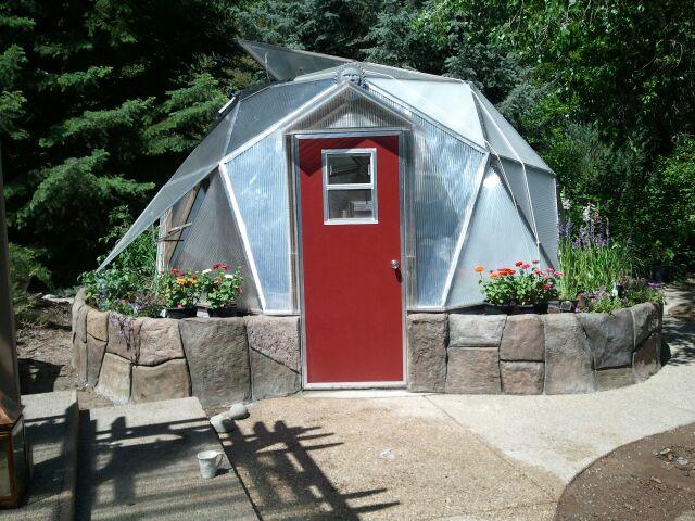 Backyard Dome solar greenhouses, geodesic dome greenhouses, home greenhouse kits