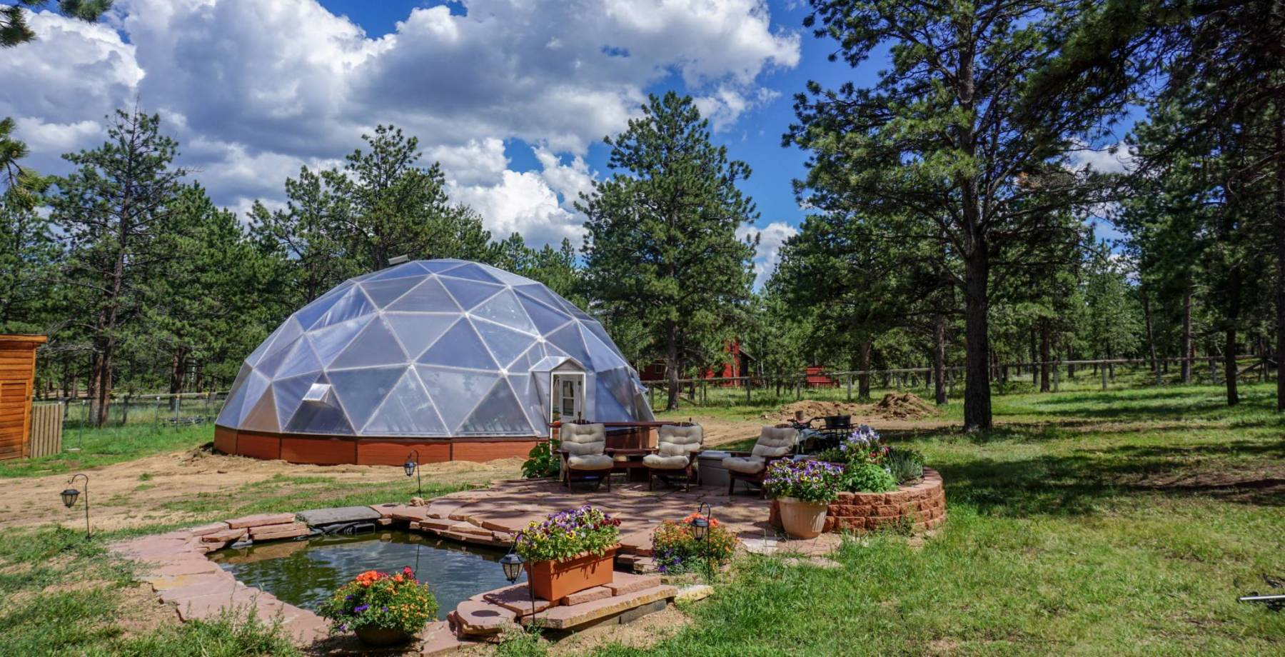 42 foot Growing-Dome Greenhouse in Bailey Colorado