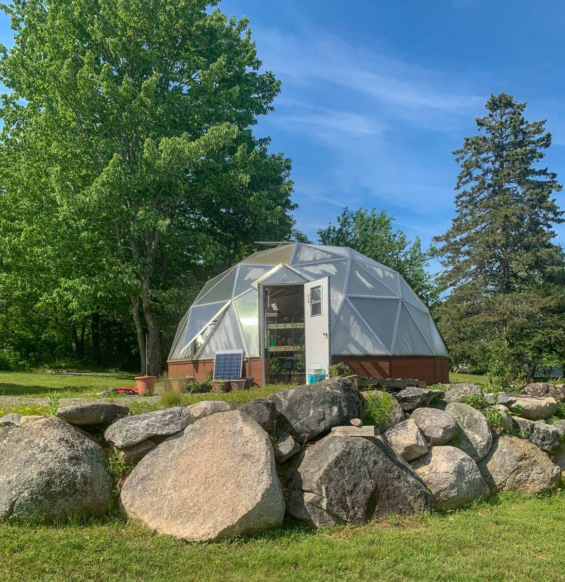 Growing Dome Greenhouse in Maine