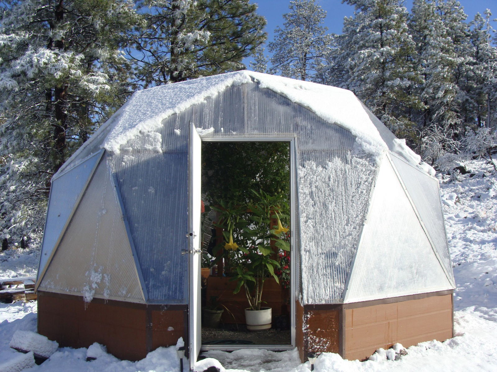 Growing-Spaces-geodesic dome greenhouse