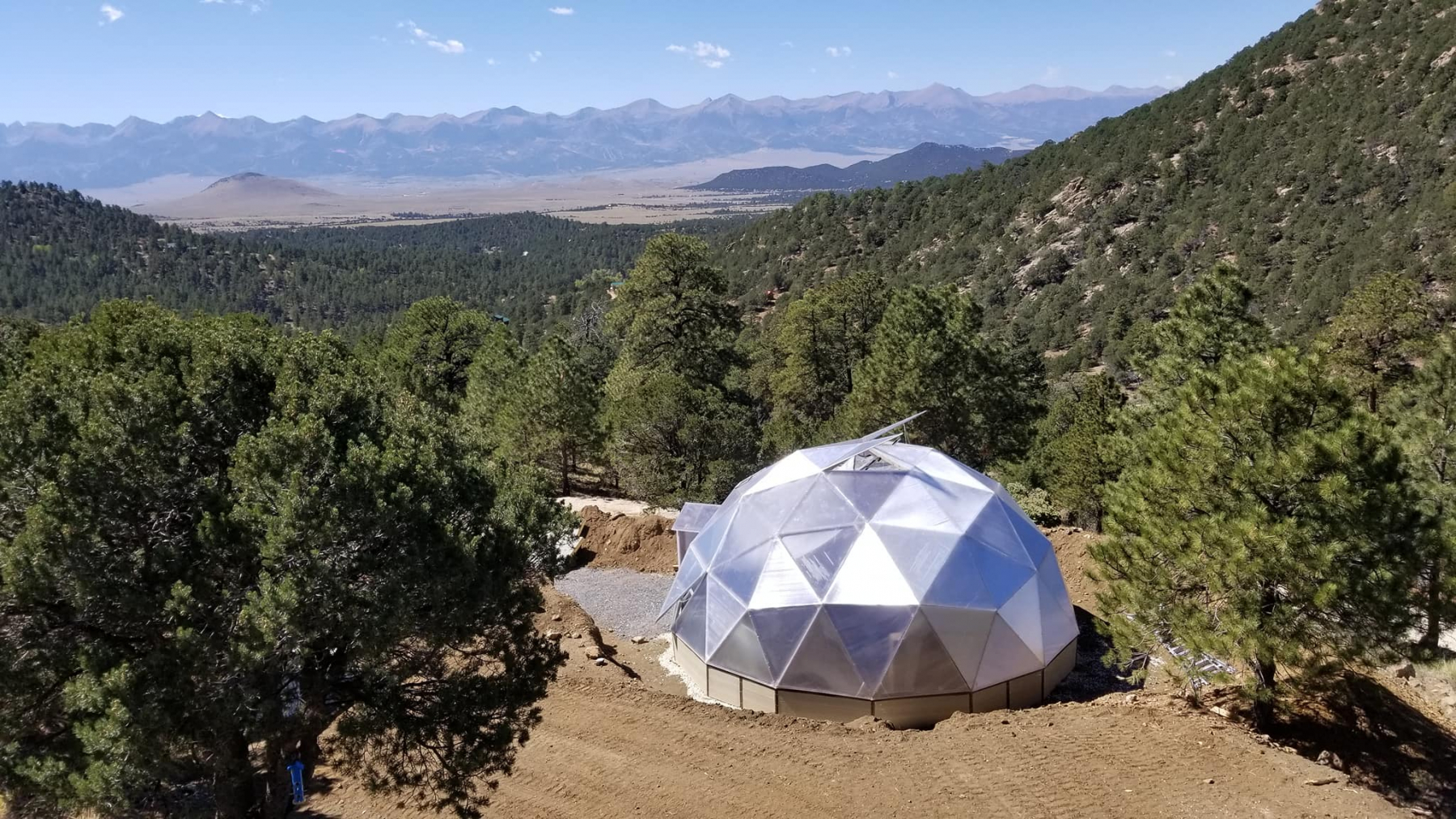 Geodesic Greenhouse in Westcliffe Colorado