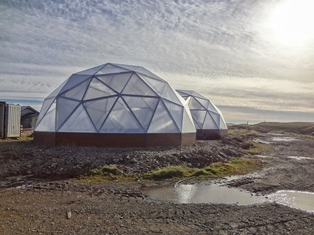 Growing Domes Greenhouses in Nikolski Alaska