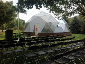 Mini-University geodesic dome greenhouse