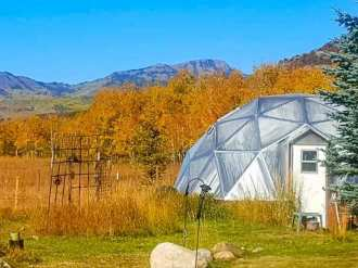 33 foot Growing Dome Greenhouse in Steamboat Springs