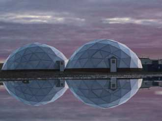 Green Iglu Dome Greenhouses in Canada