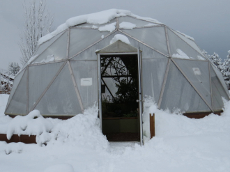 Growing Dome in winter