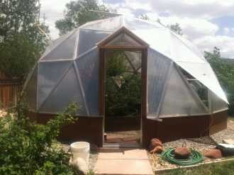 geodesic dome greenhouse in Colorado