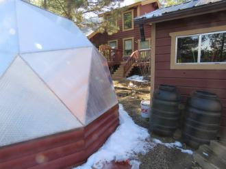 Custom Siding on Growing Dome Greenhouse