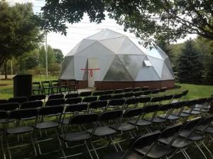 Mini-University geodesic dome greenhouse