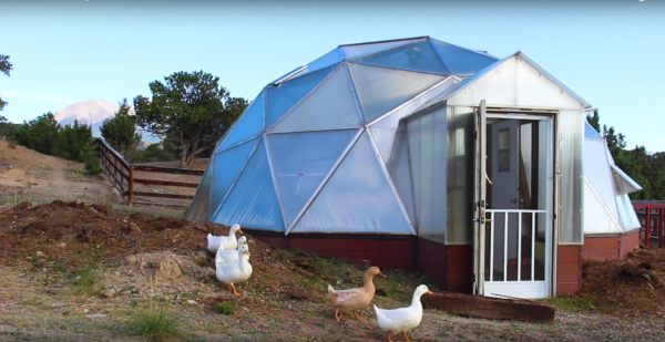 Mountain Goat Lodge Geodesic Greenhouse