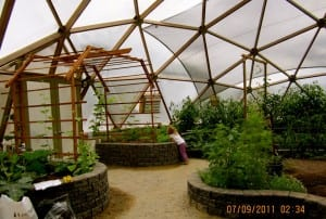 Growing Dome Greenhouse in Canada