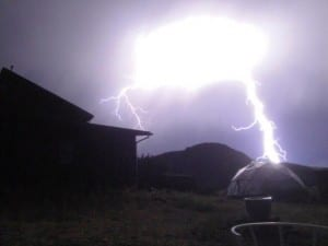 Lightning Strikes Growing Dome