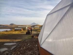 growing dome greenhouse on island