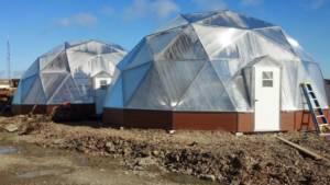 growing dome greenhouse in alaska