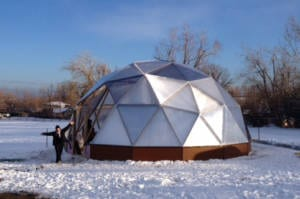 Completed Growing Dome Greenhouse at Columbine Elementary School