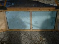 Insulated wall for greenhouses