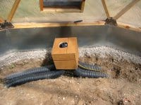 Undersoil heating & cooling system for Growing Domes