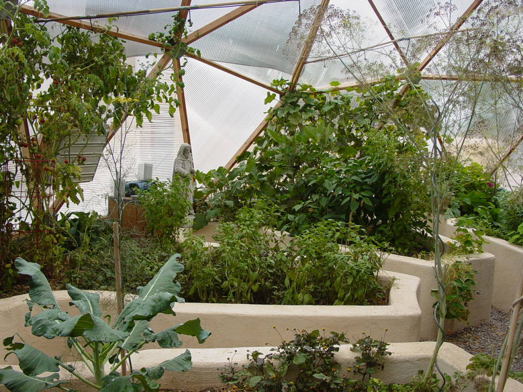 space efficient raised beds in Growing Dome Greenhouse