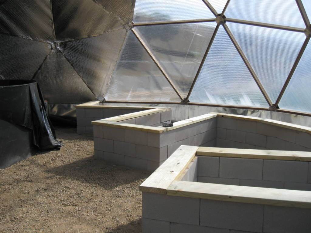 Cinder Block Greenhouse Raised Beds