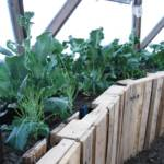 Recycled Material Raised Garden Bed