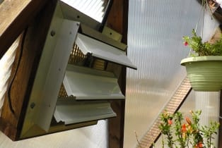 Solar Powered Greenhouse Fan