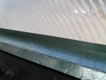 drip edge flashing for growing dome top plate
