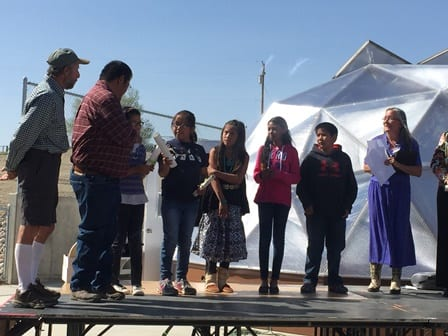 Nizhoni Elementary School New Mexico Greenhouse Opening