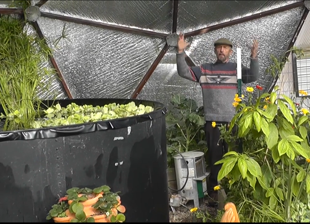 winter gardening in a growing dome no heat required