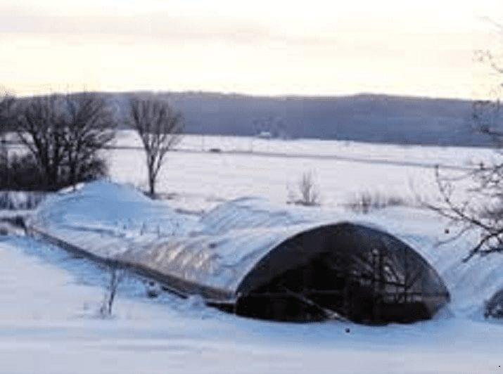 winter gardening hoop house