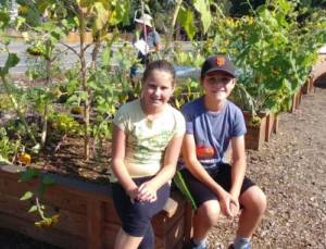 Kids in California Growing Dome Greenhouse