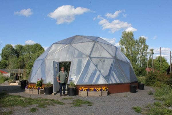 Growing Dome Greenhouse in Sweden