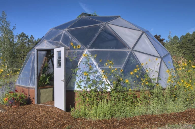 A Growing Spaces Growing Dome Geodesic Greenhouse