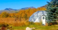 Fall planting season in 33 foot Growing Dome Greenhouse in Steamboat Springs Colorado