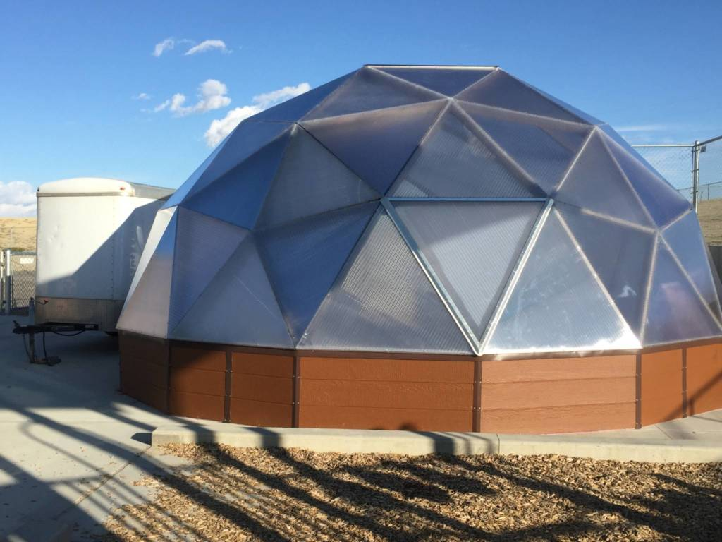 LP® SmartSide® on the Growing Dome® Greenhouse