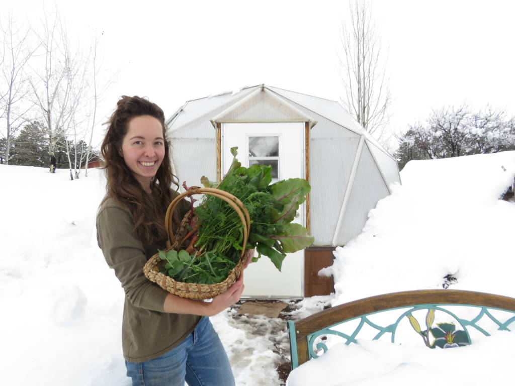 Growing Dome winter greenhouse gardening