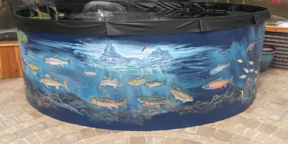 Greenhouse Pond Painted by Artist