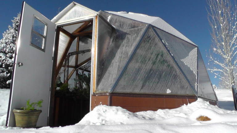 Passive Solar Greenhouse Growing All Year Long