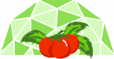 geodesic dome greenhouse logo