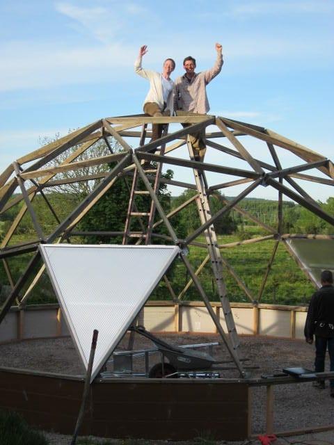 DIY Geodesic Greenhouse Success
