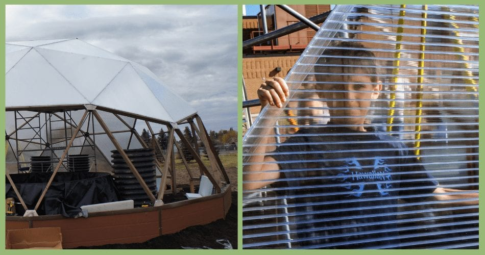 Canadian School Geodome Greenhouse Construction