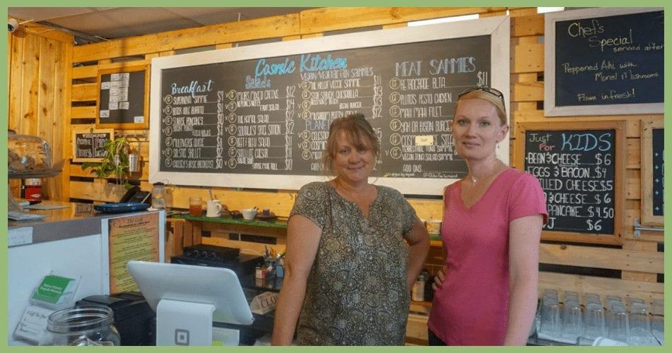 Employees at Taspen's Cosmic Kitchen Restaurant
