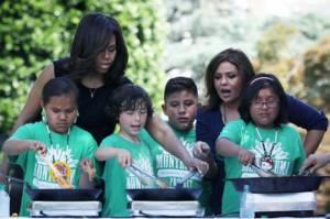 Michelle Obama Montezuma Farm to School
