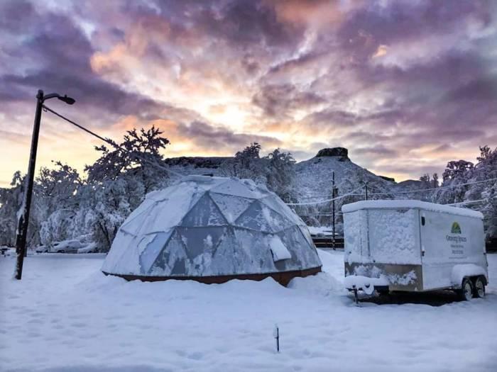 Snowy Greenhouse
