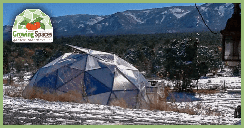New Mexico Mountain Geodesic Dome Greenhouse