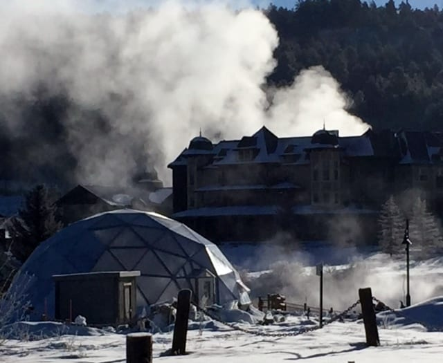 42 foot Growing Dome Geothermal Greenhouse in Pagosa Springs