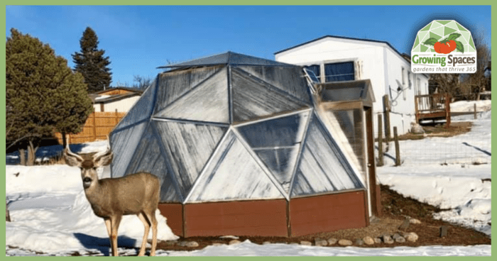 Andrew's 18' Growing Dome Greenhouse
