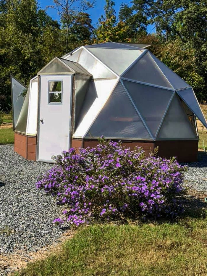 18' Growing Dome Greenhouse in North Carolina