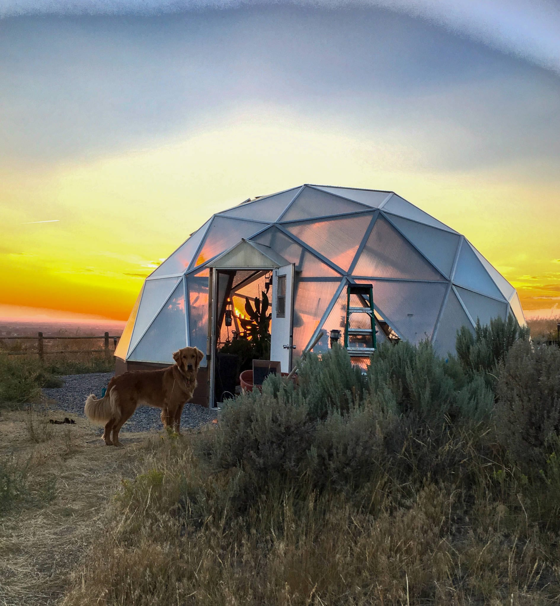22' Dome at Sunset
