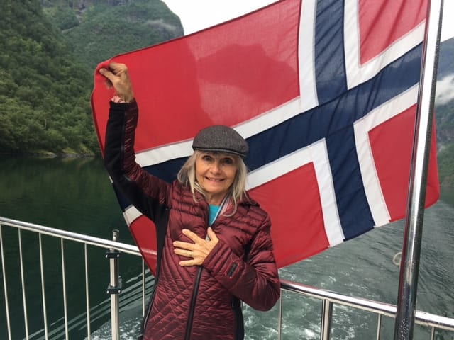 Puja with the Norwegian Flag